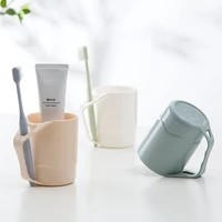 multifunctional simple but elegant color brushing cup household plastic with handle gargle cup lovers wash cup toothbrush cup