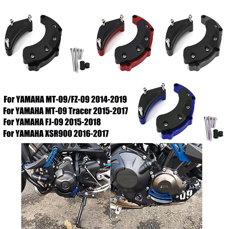 Motor Stator Puls Slider Crash-Schutz Für YAMAHA MT-09 MT09 MT 09 Tracer 900 XSR900 FJ-09 2014 2015 2016 2017 2018 2019