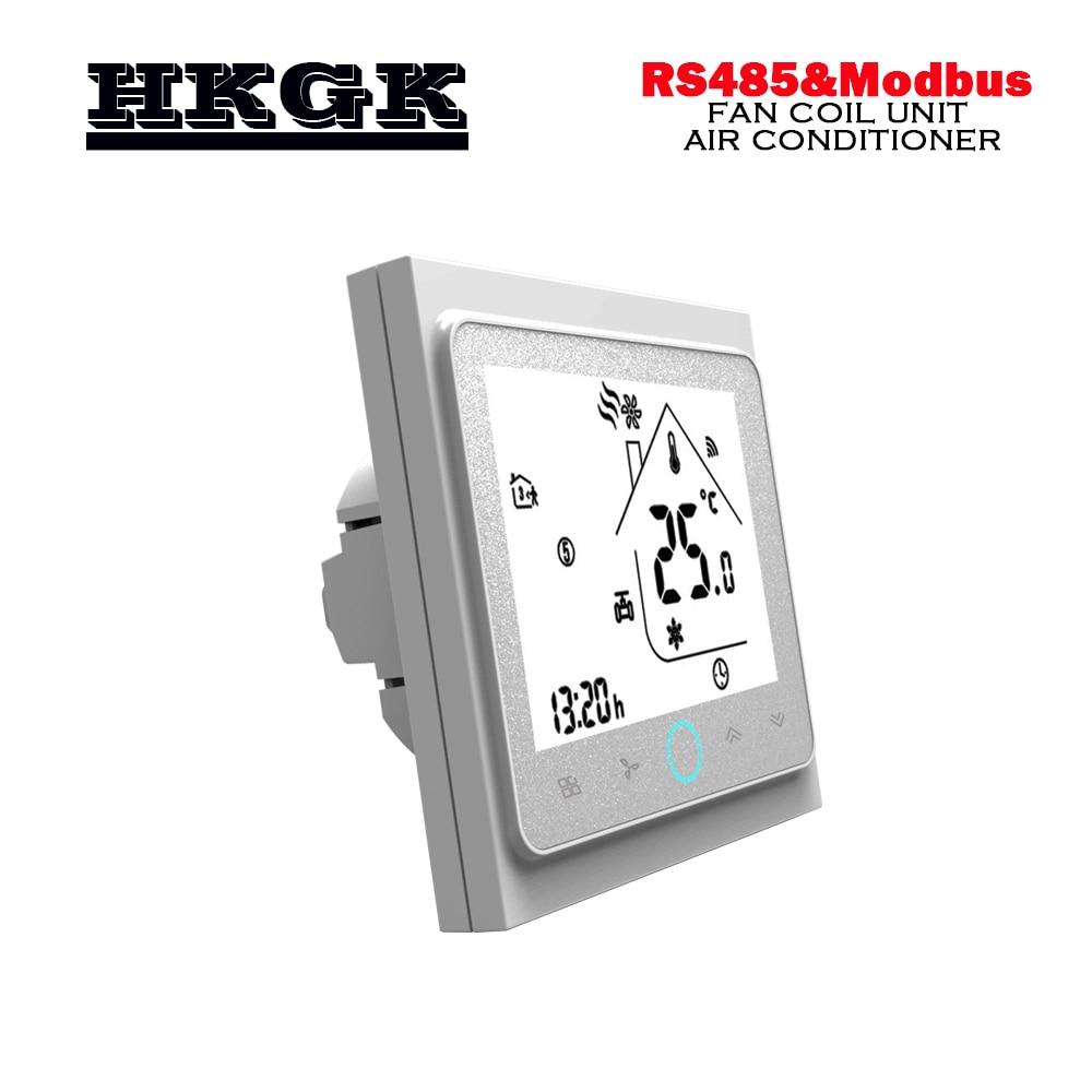 Modbus & RS485 RTU-ترموستات ذكي ، أنبوب مزدوج ، درجة حرارة التبريد ، 95-240VAC ، 24VAC