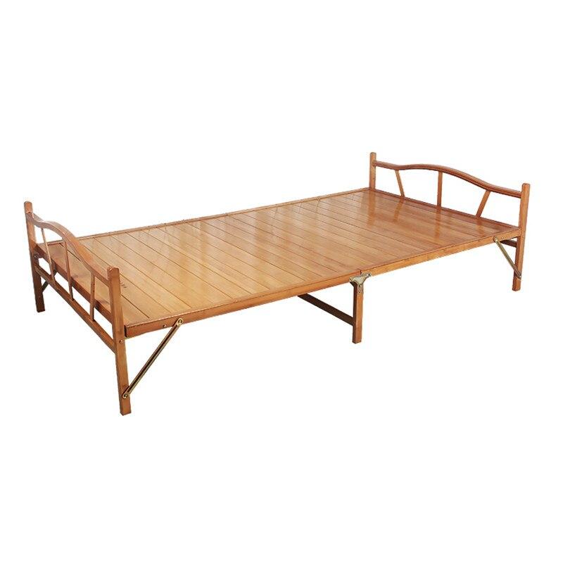 سرير حديث قابل للطي 1.0x1.9 سنتيمتر أثاث داخلي من خشب الخيزران سرير مفرد قابل للطي لغرفة نوم الضيوف أثاث منزلي منصة قابلة للطي