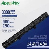 ApexWay 14.8V Laptop Battery X551M For Asus X551 X551C X551CA X451 X451C X451CA A41N1308 A31N1319 0B110-00250100 3300mAH 4 Cell