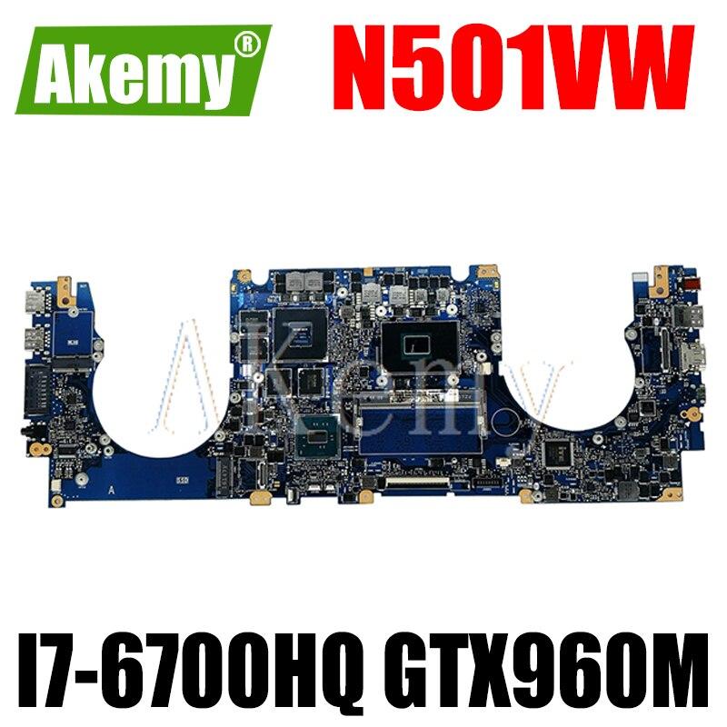 جديد!!! N501VW اللوحة لابتوب For Asus ROG G501VW G501V N501V اللوحة الأصلية 8GB-RAM I7-6700HQ GTX960M