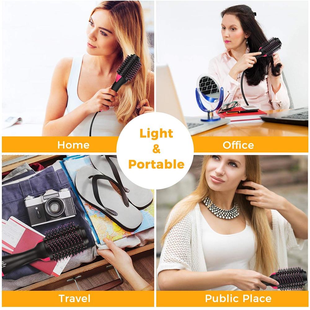 One Step Hair Dryer and Volumizer Styler Hair Dryer Brush Blow Dryer Comb Salon Hot Air Brush Hairdryer Blower Brush Hair enlarge