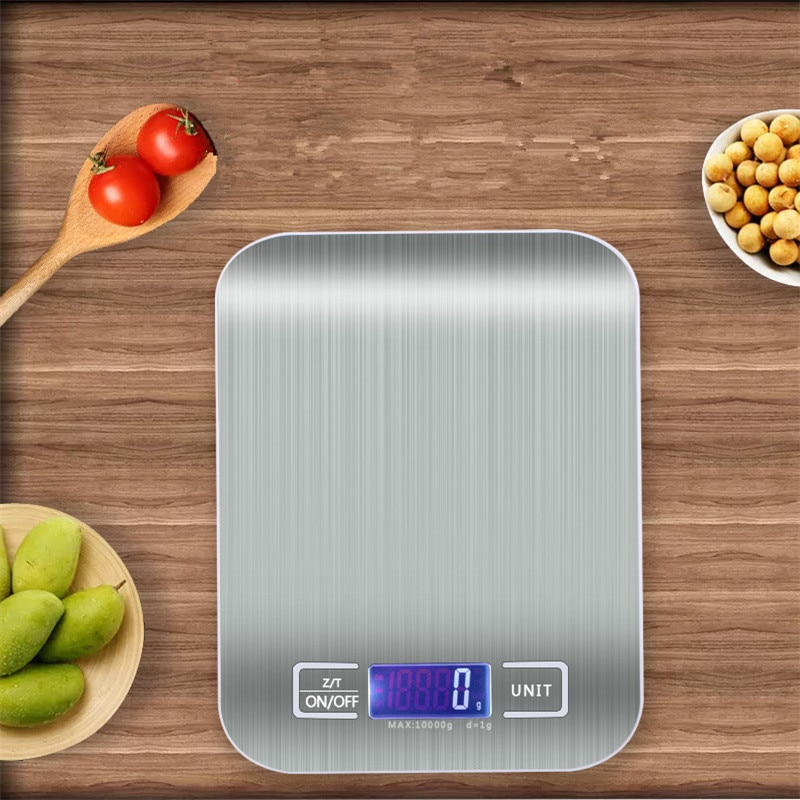 5/10/Kg Digital Display LCD Electronic Scales Kitchen Tools Food Diet Kitchen Scale Stainles Steel Weighing Scale Kitchen Gadget