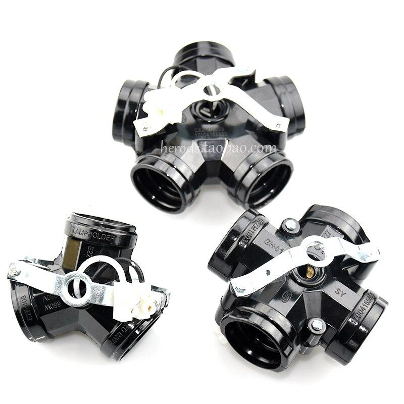 Iwhd 2/3/4/5 cabeças e27 base triádica lâmpada soquete e27 suporte da lâmpada