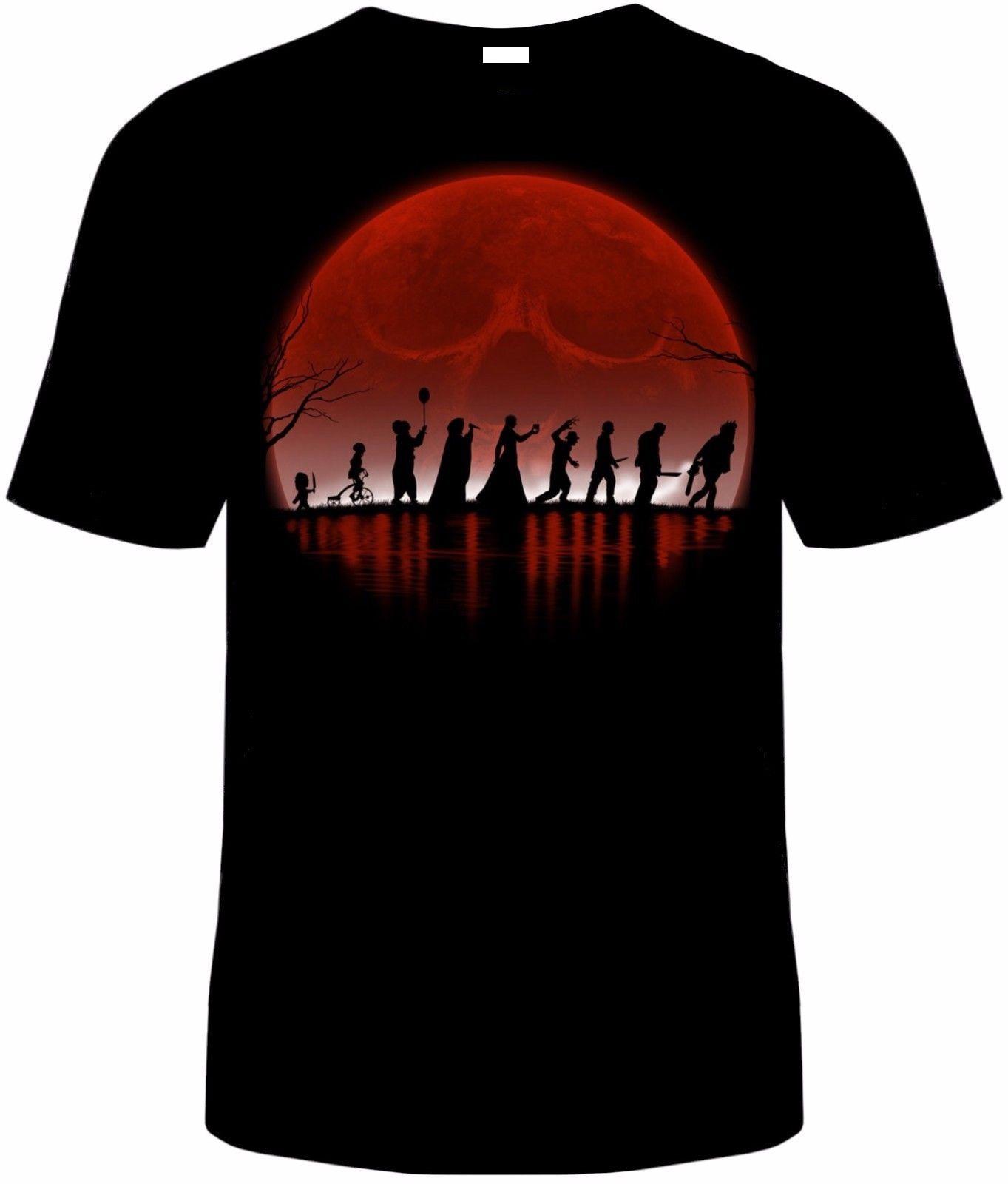 Killers T-Shirt Unisex Horror Scary Sizes IT Freddy Texas Saw Chucky Halloween Geek Pulp Fiction Naruto T Shirt Hip Hop