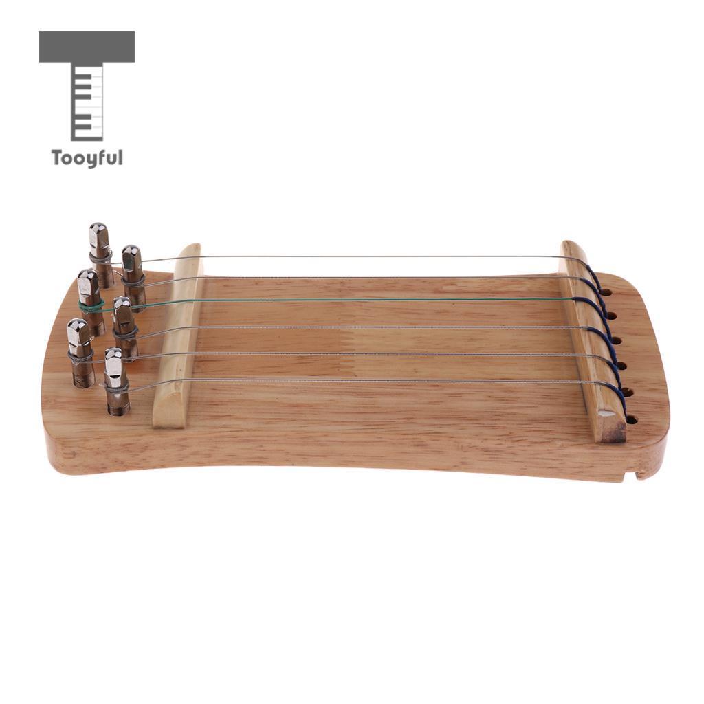 Tooyful gorgeous solid wood mini 6 string guzheng Chinese guzheng manual trainer Gu Zheng finger training exerciser