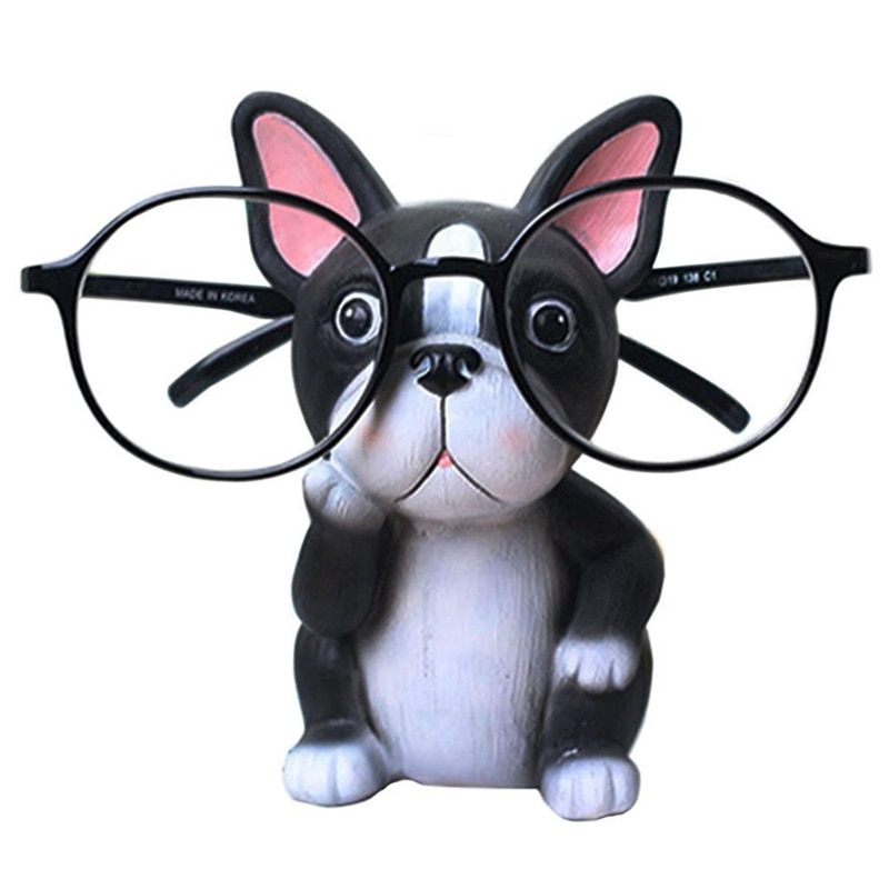 Puppy Dog Glasses Holder Stand Eyeglass Retainers Sunglasses Display Cute Animal Design Gift (Bulldog) clear acrylic 3 tier eyeglass sunglasses glasses display stand table counter top retail show holder
