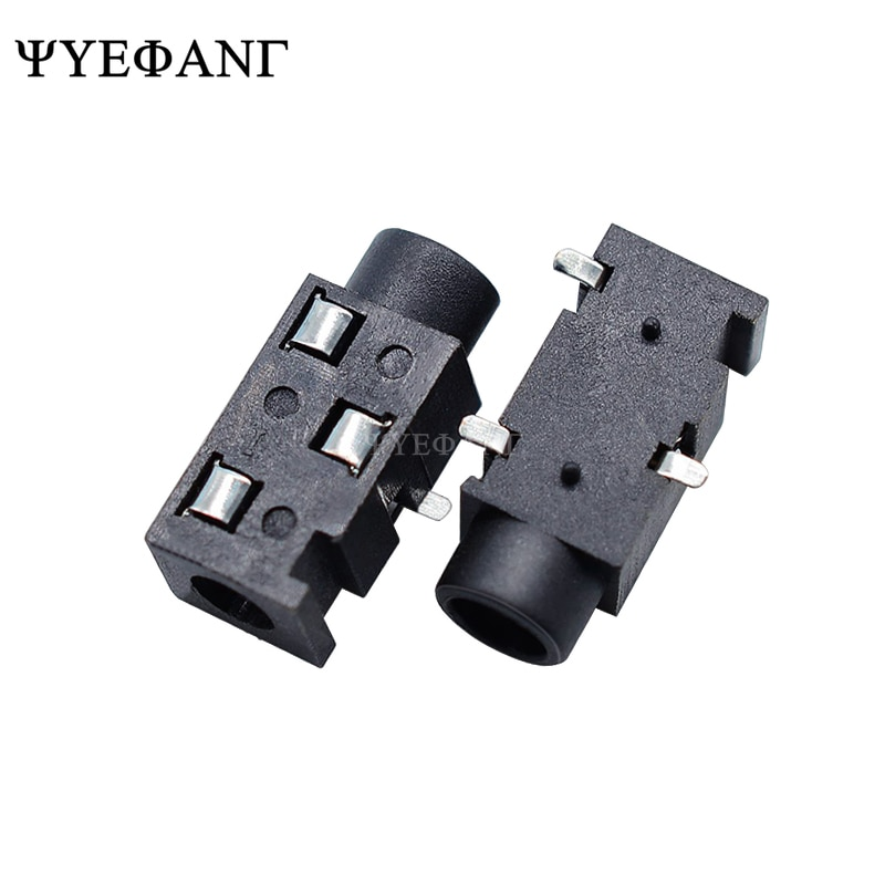 Conector de jack de 3,5 MM para auriculares, PJ-320 con conector hembra de 3 líneas SMD, auriculares estéreo PJ-320B 10 piezas