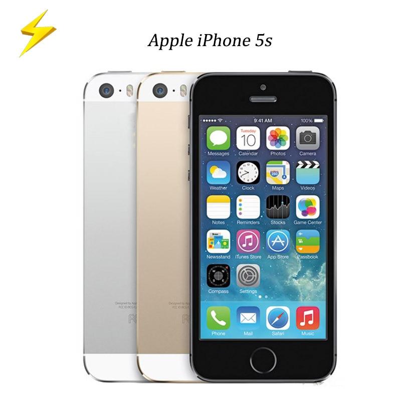 Original Apple IPhone 5s 4inch Used Screen 16/32/64GB 8MP Camera iCloud SIRI Touch ID Unlocked Smartphone Phone Fingerprint