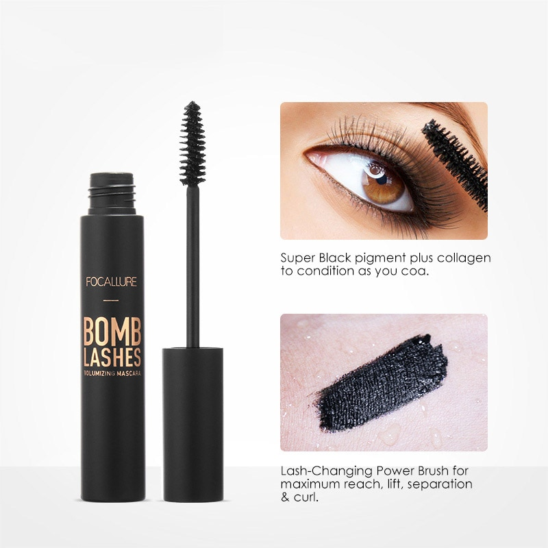 Rizador Profesional 3D negro rimel con volumen, maquillaje impermeable, espeso, alarma, maquillaje de belleza para ojos