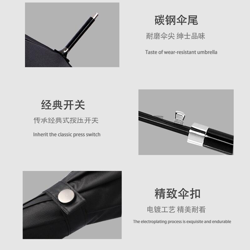 Retro Long Handle Umbrella Rain Women Windproof Fashion Luxury High Quality Umbrella Business Waterproof Paraguas Rain Gear BC50 enlarge