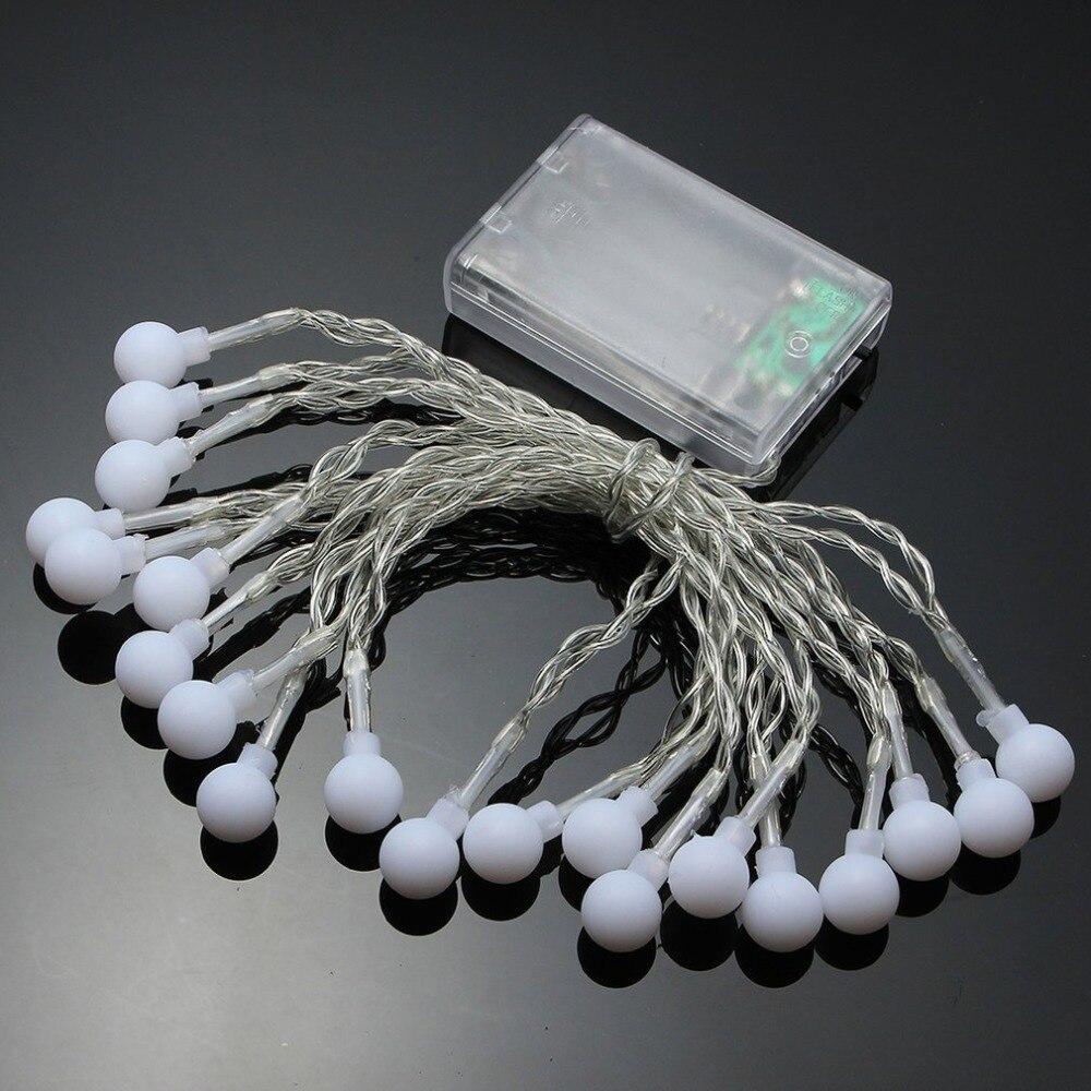 3M 30 Led bolas de cereza cadena decorativa luz operada por batería boda fiesta Navidad guirnalda Decoración Luz