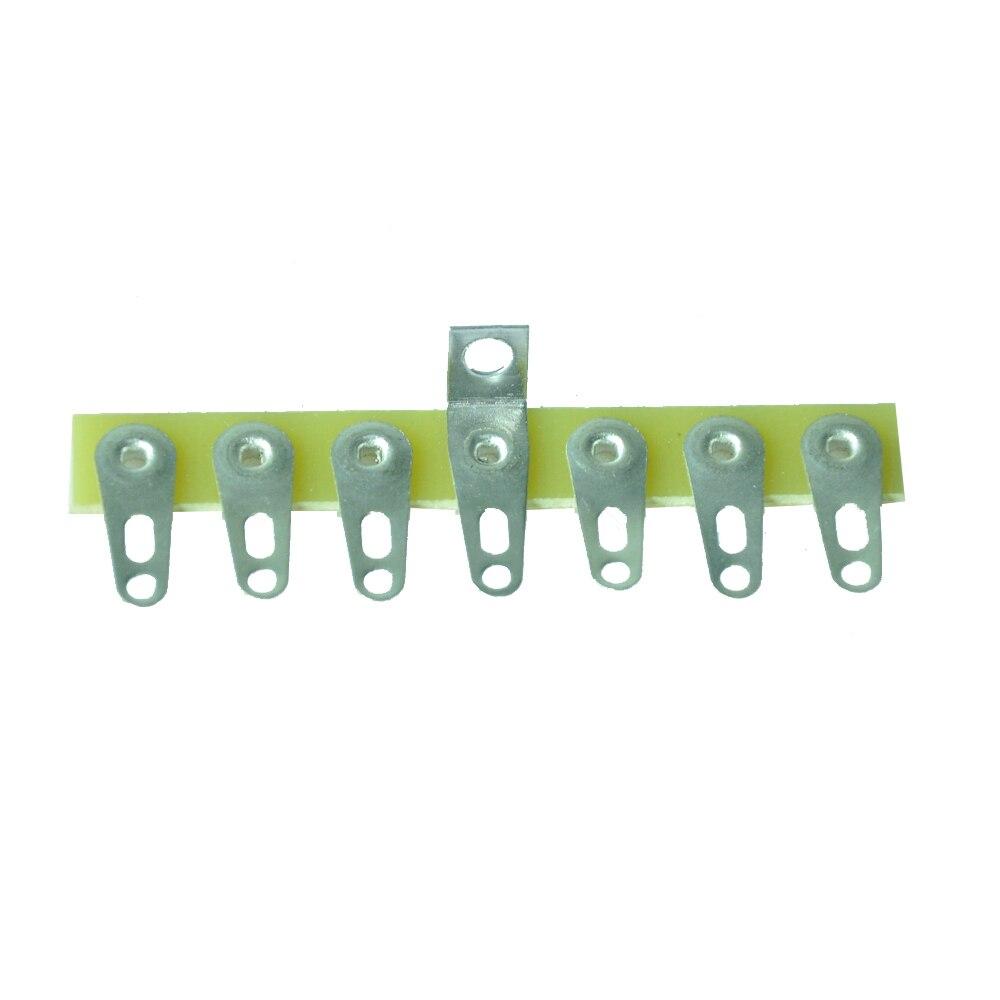 10 Uds tira de terminales torreta Tag Board 7 Lug Point to Point para amplificador de tubo de guitarra DIY