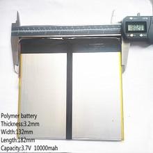 Tablet PC talk9x u65gt, batterie 3,2*132*182 3,7 V 10000 mah Li-ion batterie for 32132182