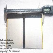 Планшетный ПК talk9x u65gt, аккумулятор 3,2*132*182 3,7 В 10000 мАч литий-ионный аккумулятор для 32132182