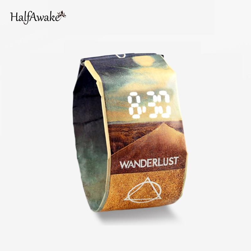 Waterproof Paper Watch 200mm Strap Band Digital Wrist Watches Clock Bracelet Gift For Women Men Kids 2021 Fashion Sport Party