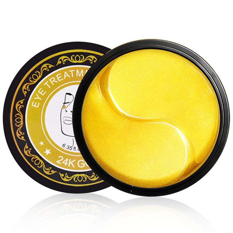 60pcs Collagen 24k Gold Under Eye Gel Mask Eye Patch Anti Wrinkle Fade Dark Circles Reduce Eye Bags Anti-aging Moisturizing недорого