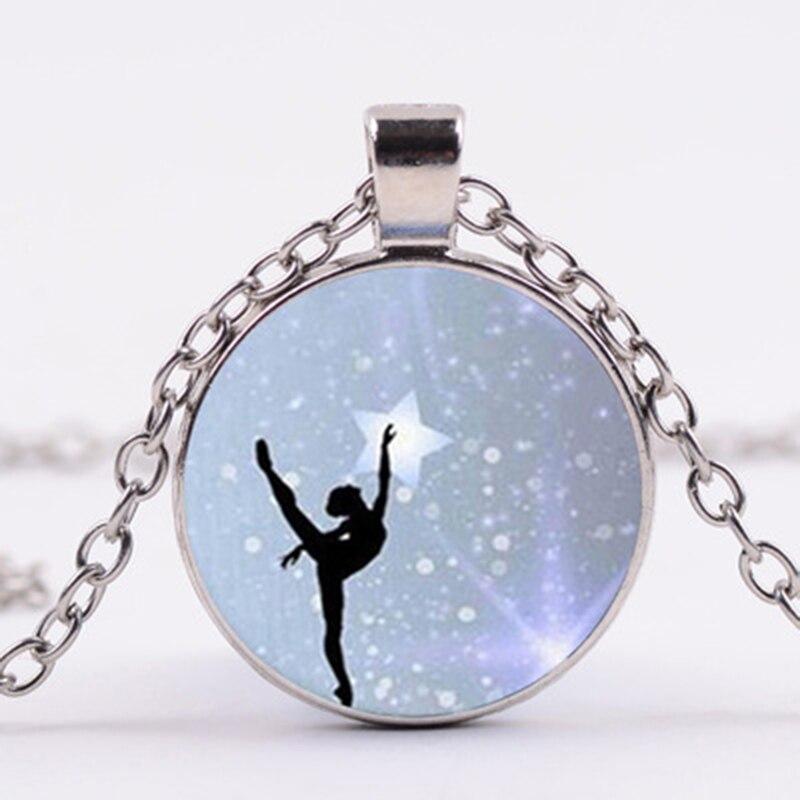 Collar con colgante de piedras preciosas para chica Ballet, artículo que combina...