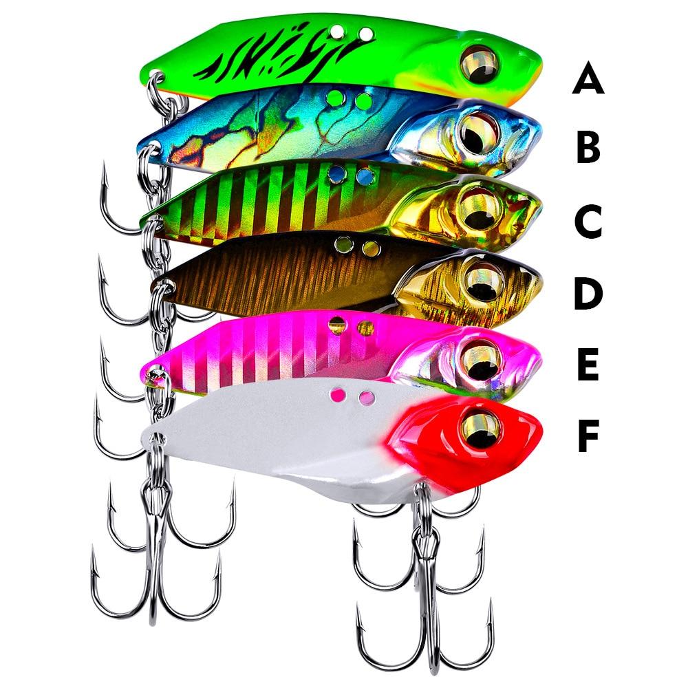 Señuelos de Metal Vib 5g 7g 10g 15c señuelo de pesca vibración vívida cuchara Isca cebo duro bajo Cicada crankbait VIB Wobbler Spinner