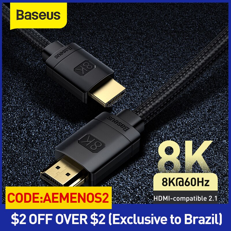 Baseus HDMI-Compatible Cable for Xiaomi Mi Box 48Gbps Digital for PS5 PS4 8K 2.1 4K 2.0 HDMI-Compati