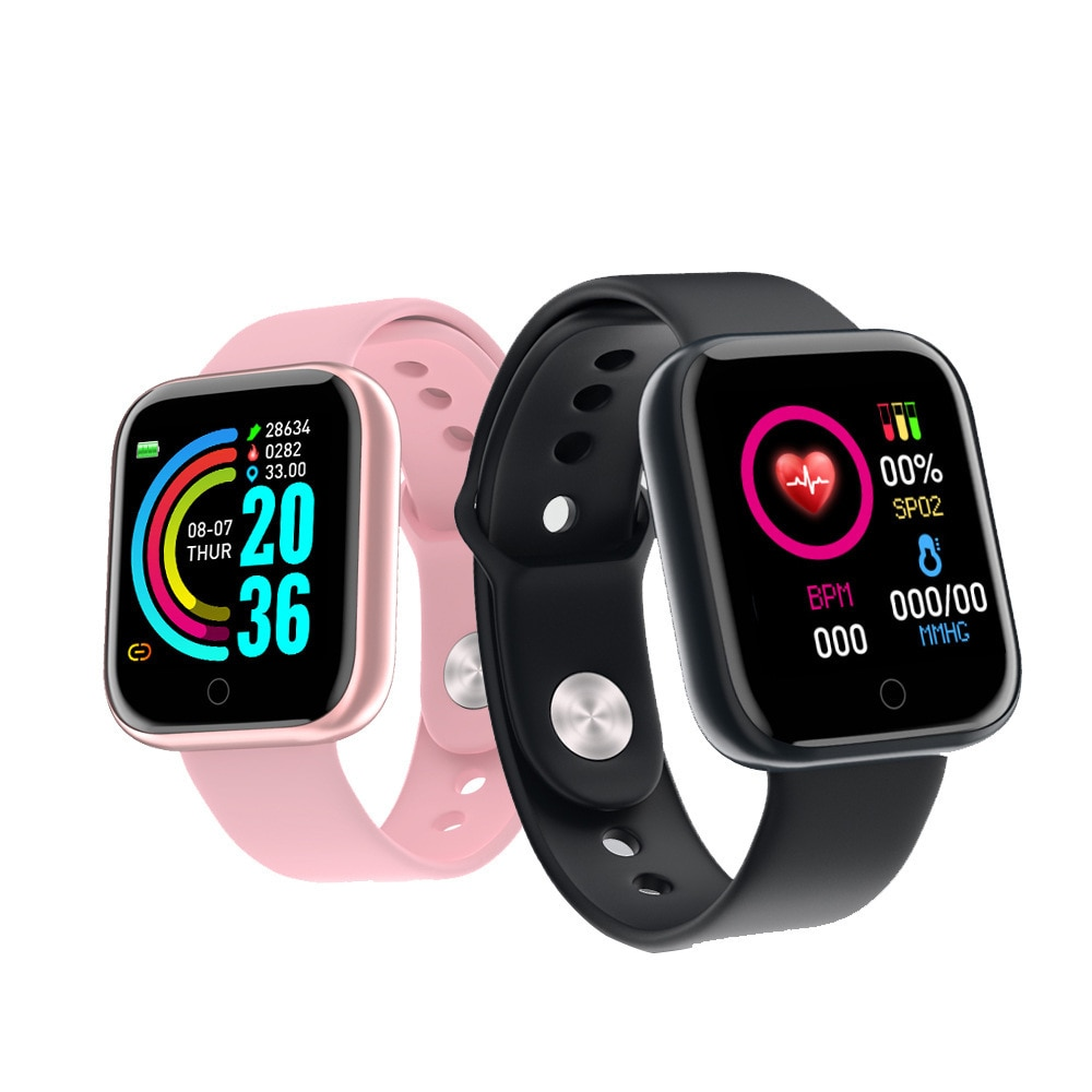 Promo Y68 Smart Bracelet Heart Rate Monitoring Reminder Step Counting Information Push Sleep Analysis Smart Sport Bracelet