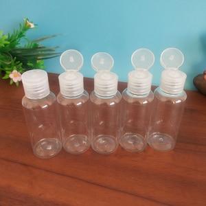 5 шт. 50 мл пустые прозрачные Пластик раскладушка бутылка для воды с украшением в виде кристаллов С Откидывающейся Крышкой и зеркальной поверхностью Портативный флип бутылки