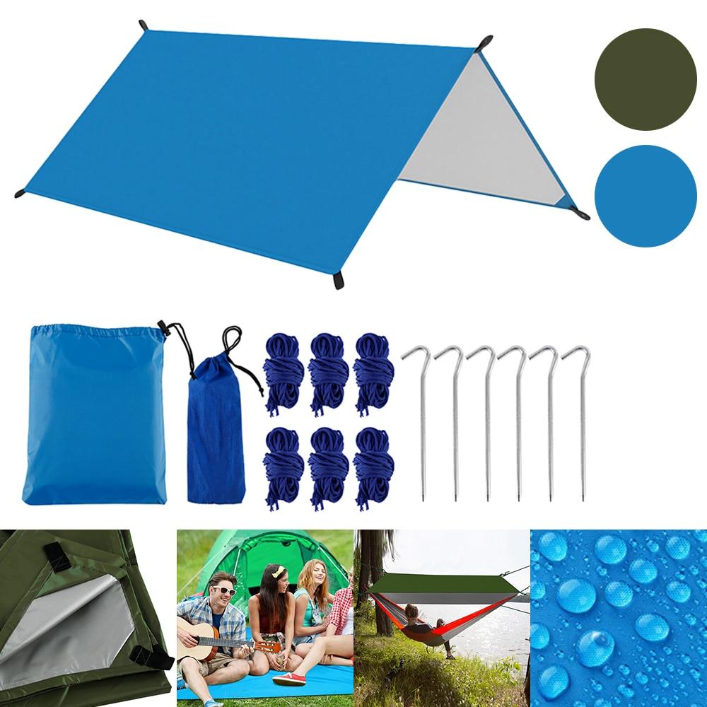 Camping sol playa al aire libre en el jardín toldo parasol hamaca mosca de la lluvia lona impermeable tienda sombra