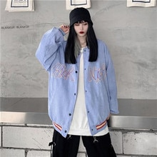 Women's jacket college style baseball uniform female 2021 spring and autumn new Korean student loose