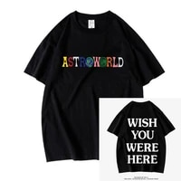 2021new fashion hip hop t shirt men women travis scotts t shirts wish you were here letter print tees tops