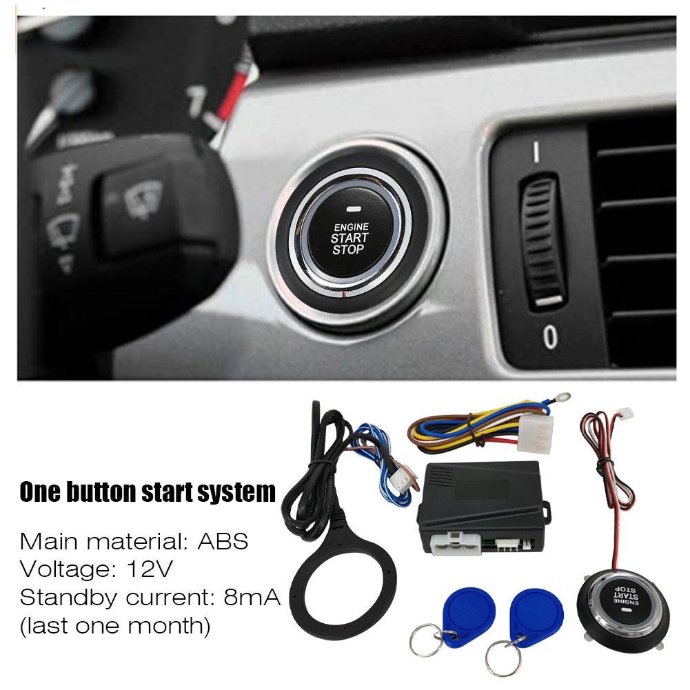 Key Less Start System Car With RFID Engine Lock 12V Anti-theft Automatically Locks Start Stop Push Button Ignition System Starte