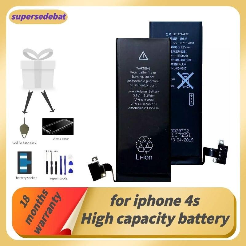 Supersedebat для Iphone 4s аккумулятор для Iphone 4s Оригинальный аккумулятор для Iphoe 4s Bateria liio Batterie литиевые инструменты