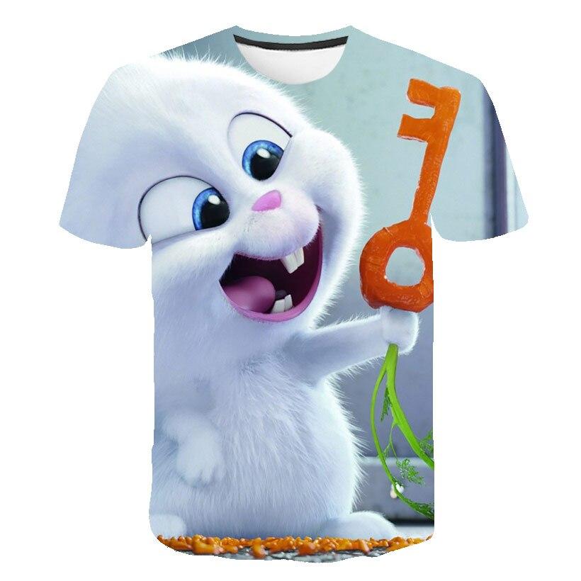 2021 г. Футболка для мальчиков с кроликом Детская футболка с рисунком животных милые футболки для девочек, детские футболки одежда для детей п...