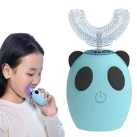 2021 new u shape 360 degrees kid sonic electric toothbrush rechargeable children teeth care waterproof automatic tooth brush