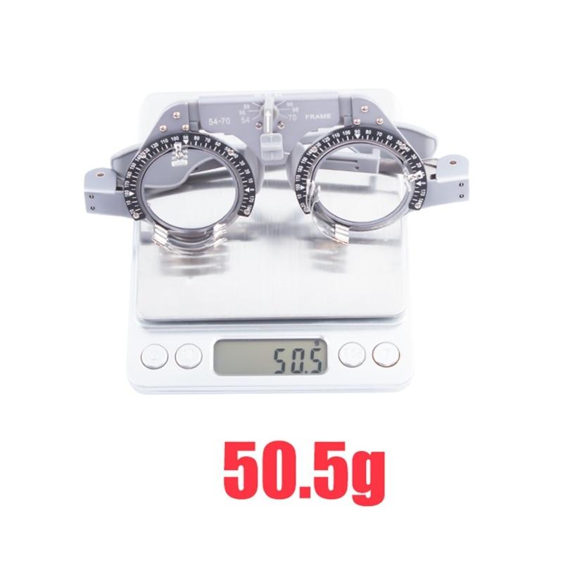 AliExpress - Trial Frame Pupil Distance Adjustable 54-70mm Optical Lens Pure Titanium 50g Super Light Insert frame Glasses Optometry