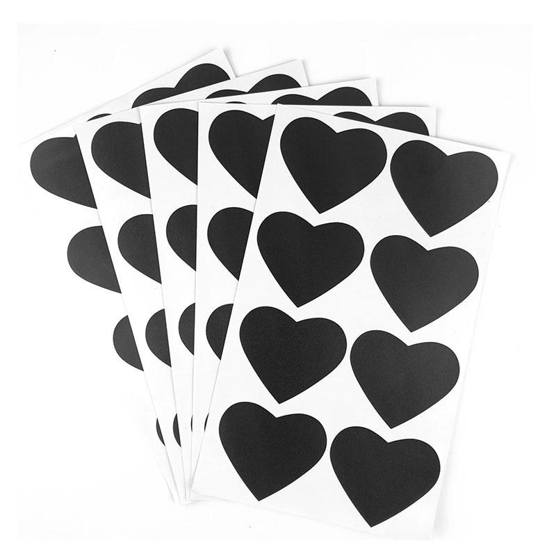 40 Pçs/set 6.7x5.7cm Apagável Placa de Giz Blackboard Etiqueta Etiquetas de Artesanato Potes De Cozinha Organizador Etiqueta Placa Preta