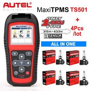 Image 1 - Датчик Autel TPMS MX Sensor 2в1 Инструменты для ремонта шин TPMS сенсор Поддержка программирования с TS501 TS508 равный 433 МГц + 315 МГц