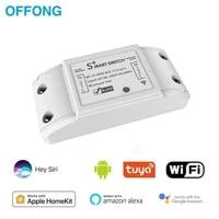 Module de disjoncteur de commutateur intelligent sans fil Wifi  bricolage  controleur de lumiere  prise en charge dalexa Google Home pour Homekit