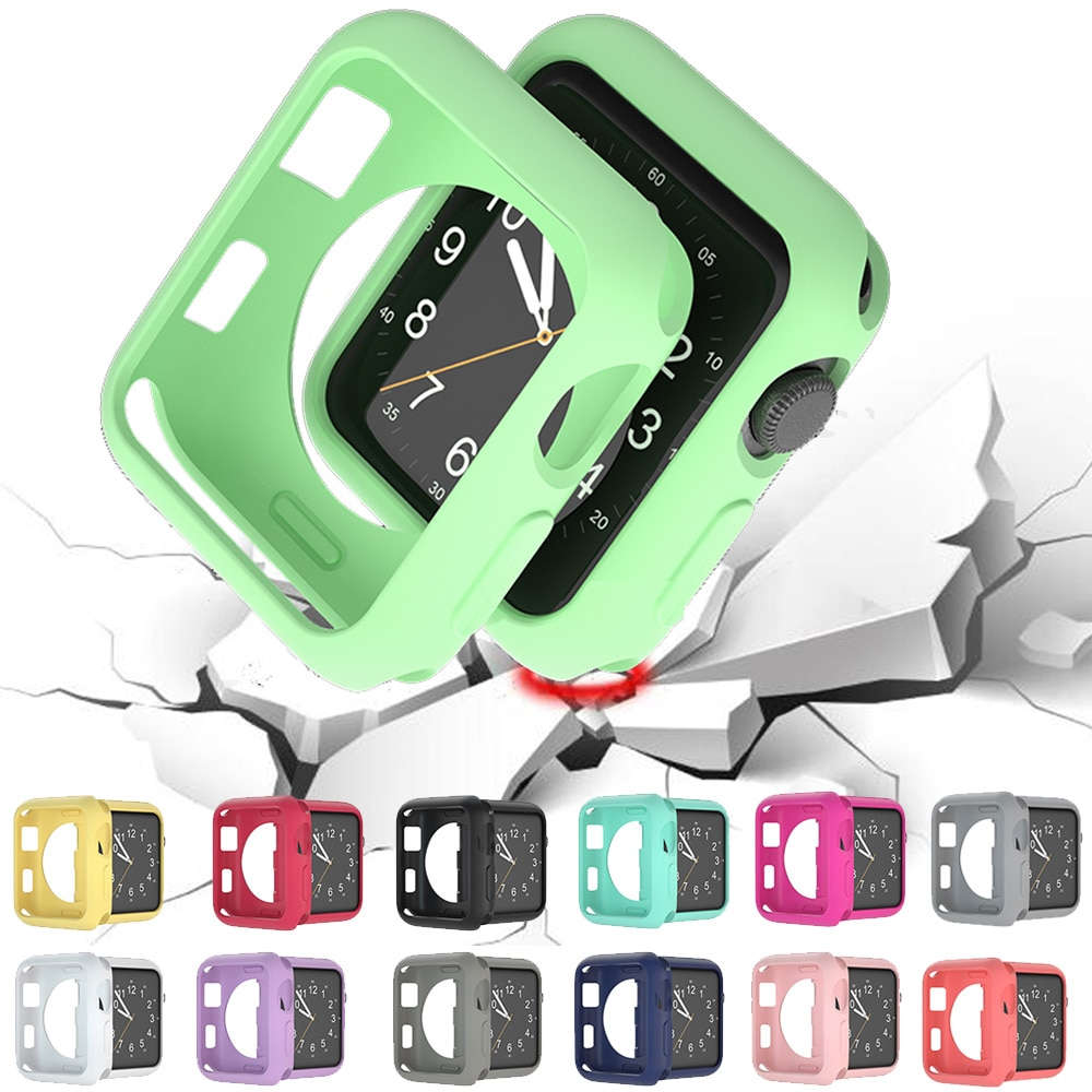 Funda protectora para iwatch Series 3, 2, 38mm, 42mm, color dulce, tpu,...