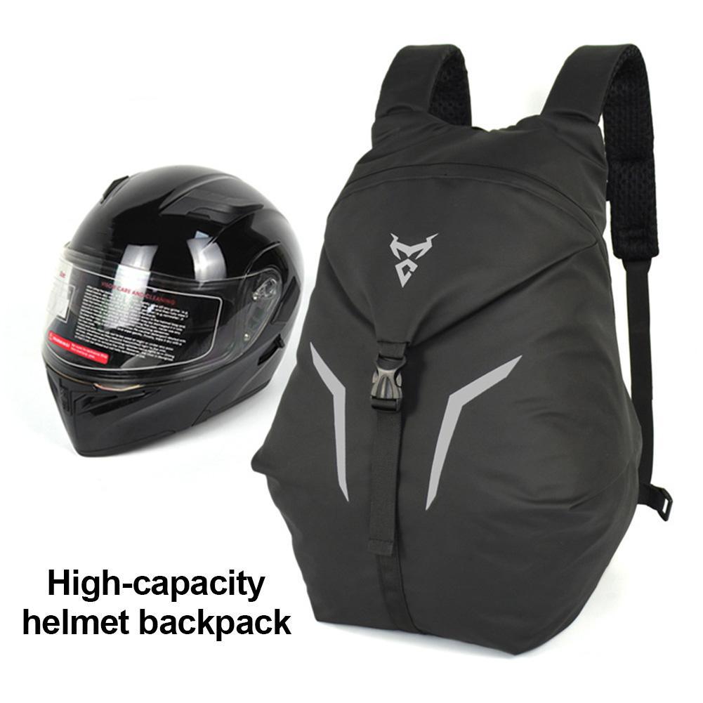 حقيبة ظهر خوذة دراجة نارية مقاومة للماء ذات سعة كبيرة ، حقيبة خوذة دراجة نارية ، حقيبة ظهر رياضية لكرة السلة واللياقة البدنية في الهواء الطلق