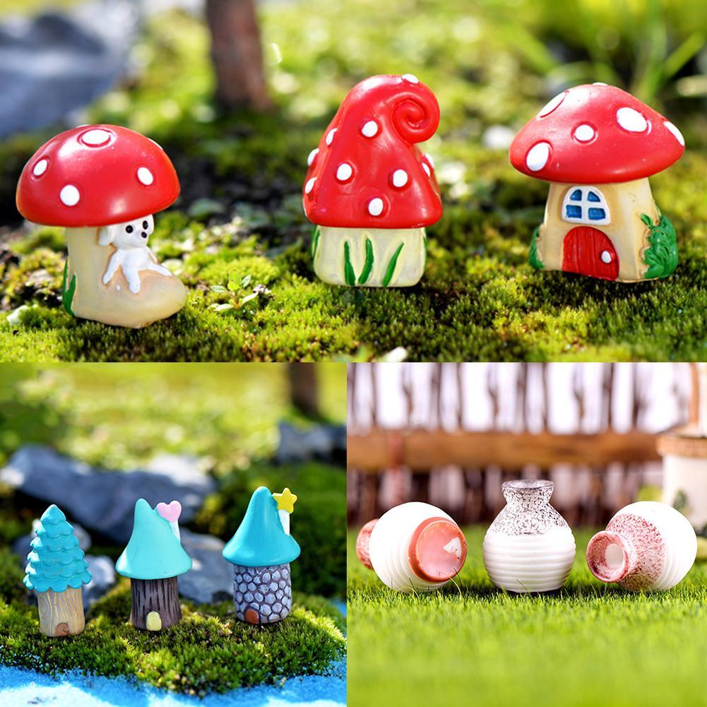 3 unids/set jarrón casa miniatura Jardín de hadas microdecoración de paisajismo DIY ornamento terrario decoración de figuritas casa de muñecas DIY