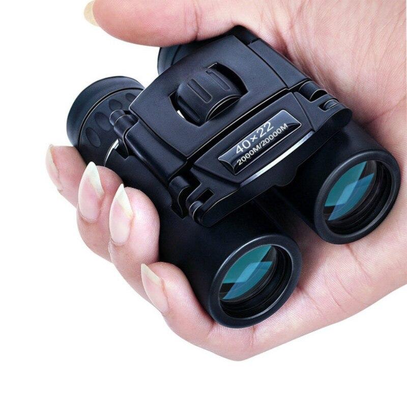 Бинокуляры potentes HD 40x22 de 2000M, призматические с широким охватом, Мини Телескопический складной, оптическая BAK4, FMC, для спортивных целей