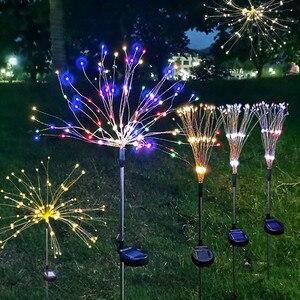 Solar Fireworks Light Lawn Garden String Light Waterproof DIY Dandelion Decor Lamp Christmas 2021 New Year Decoration