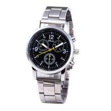 Watches Fashion Neutral Quartz Analog Wristwatch Steel Band Watch Часы Мужские Simple Men