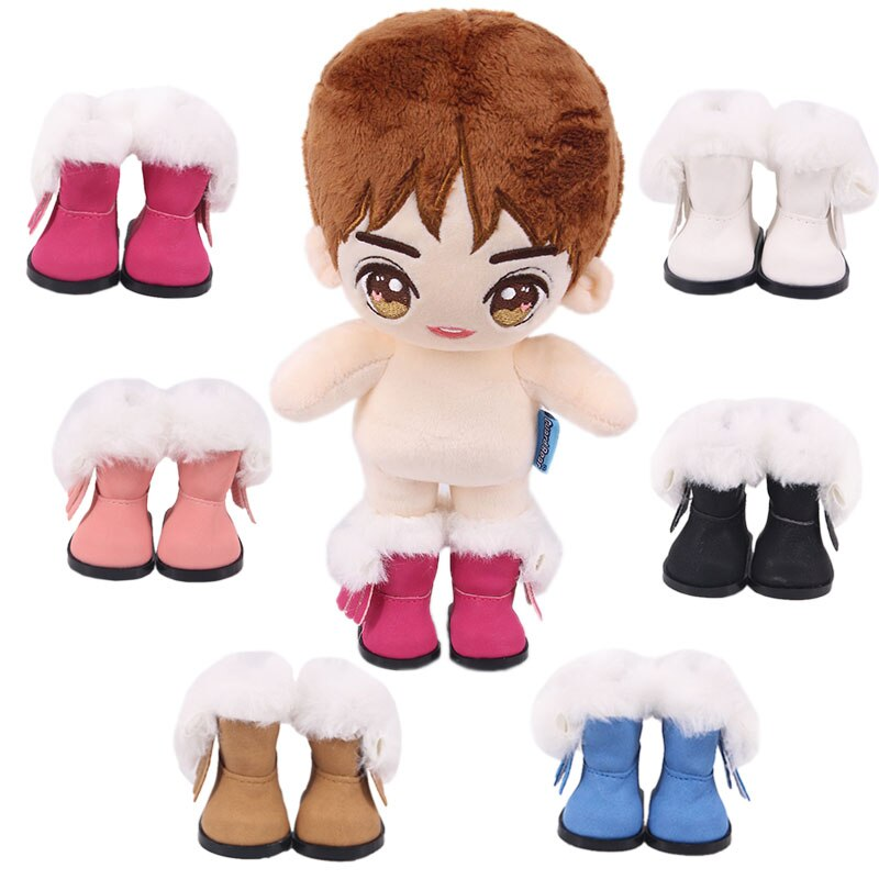 handmade high quality doll shoes for blythe azone momokolati jerryb doll accessories toys gift girl play house free shipping Doll Shoes Handmade High Pile Shoes Boots 5 cm 14-Inch Doll Shoes For 14 Inch Doll Shoes Accessories Girl`s Toys