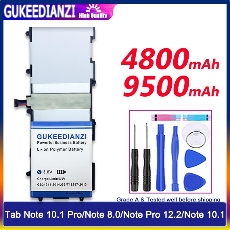 Bateria sp3676b1a para samsung galaxy tablet tab note 10.1 p5100 p5110 p7510 n8000 guia nota 10.1 pro/nota 8.0/nota pro 12.2