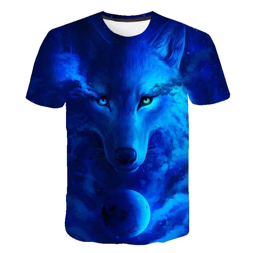 2020 animal Wolf 3D Boys Girls shirt for summer Teenagers Children t-shirt for Boys Girls Sweat Shirt Child Kids T-shirt Clothes