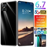 a95s hd smartphone the worlds best selling 1632mp 6 7 inch 5600mah large battery 8gb 512gb facial fingerprint android 5g phone