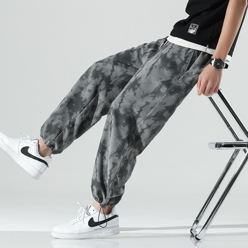 Men Fashion Camouflage Trousers Elastic Waist Casual Pants for Men Streetwear Loose Jogger Trousers