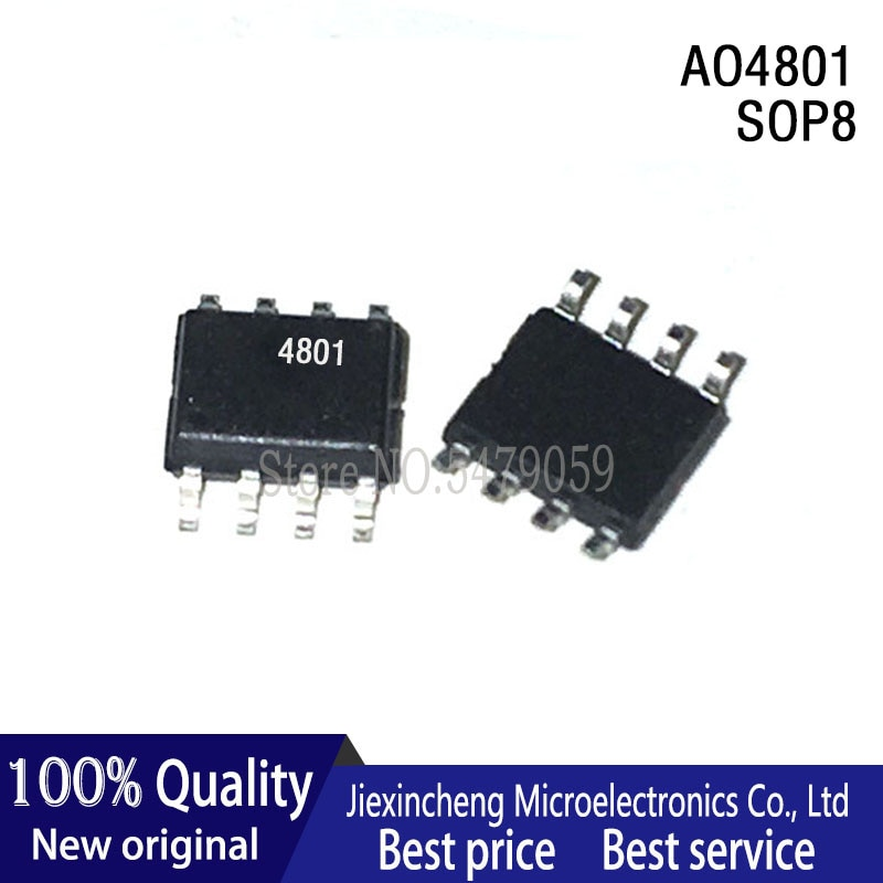 10 STÜCKE AO4801 4801 AO4807 4807 AT24C01A-10SC-2.7 24C01A AT24C02N-10SI-2.7 24C02N AT24C04BN-SH-T 04B SOP8 Neues Original